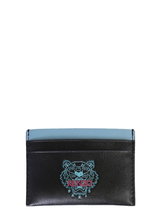 Kenzo Card Holder With Logo Unisex In Black