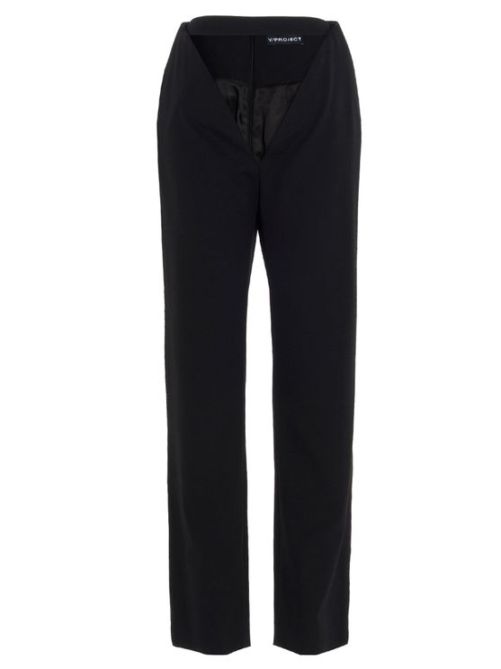 Y/project Women's Wpant60black Black Other Materials Pants