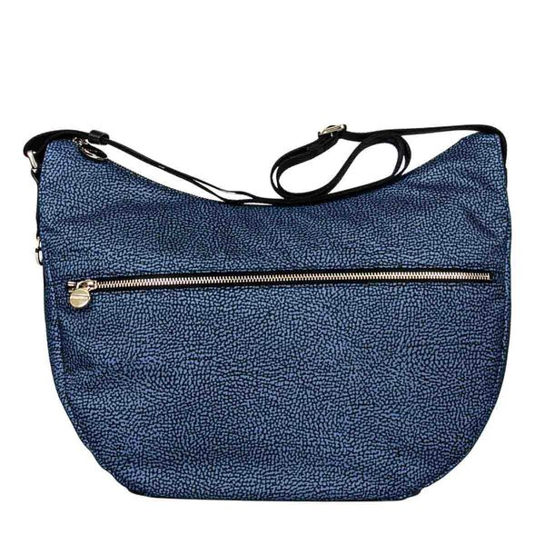 Borbonese Luna Bag Medium In Blue