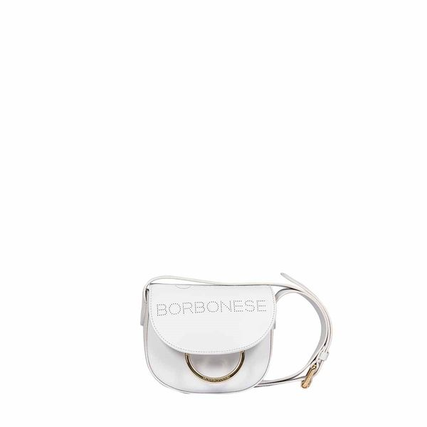 Borbonese Mini My Borbo Shoulder Bag In White