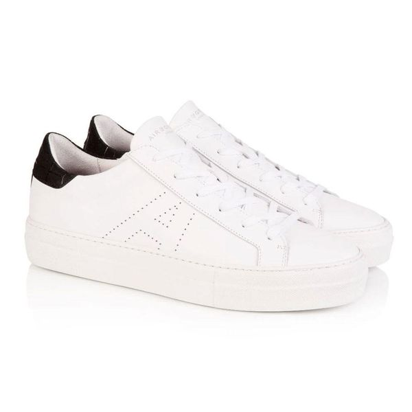 Air & Grace AIR AND GRACE ROXY WHITE & BLACK PLATFORM TRAINERS , Colour:WHITEBLACK