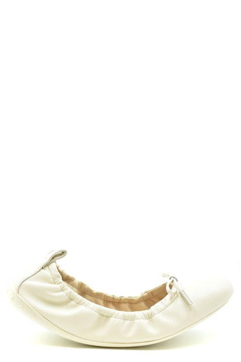 Tod's Ballet Flats In White