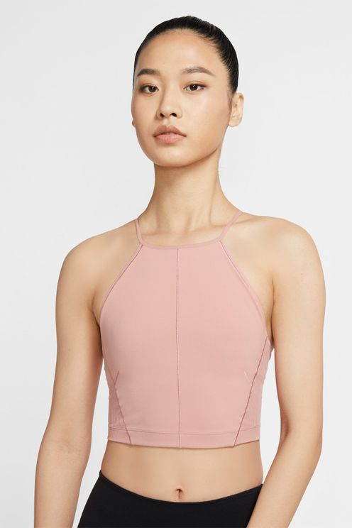 Nike Yoga Women's Infinalon Cropped Tank (rust Pink) - Clearance Sale In Rust Pink,particle Beige